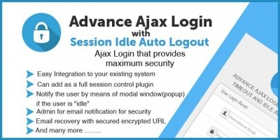 Advance Ajax Login System - PHP Script