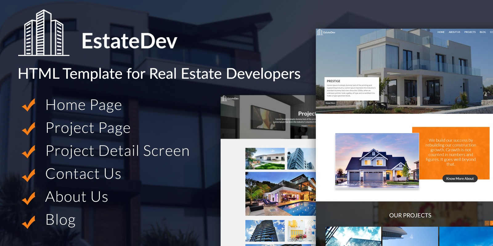 EstateDev - HTML Template for Real Estate | Codester on maryland logo design, realtor logo design, housing works logo design, non-profit organizations logo design, home inspection logo design, publishing house logo design, property management logo design, search logo design, apartment logo design, building logo design, key logo design,