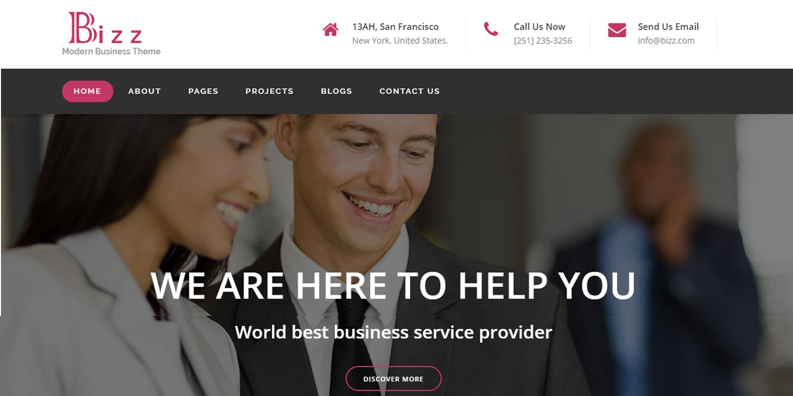 Bizz - Business & Corporate HTML Template - Business HTML Website ...