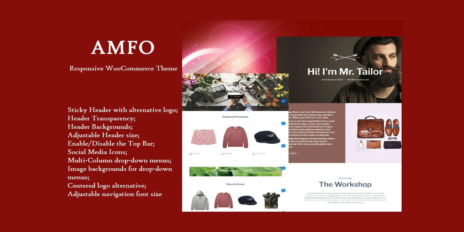 Amfo Responsive WooCommerce Theme