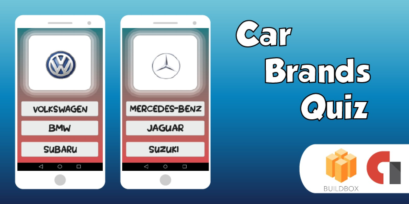 Car Brands Quiz  Buildbox Template With Admob