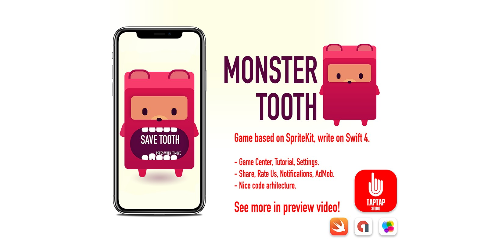 Monster Tooth iOS Source Code