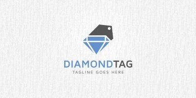 Diamond Tag Logo Template
