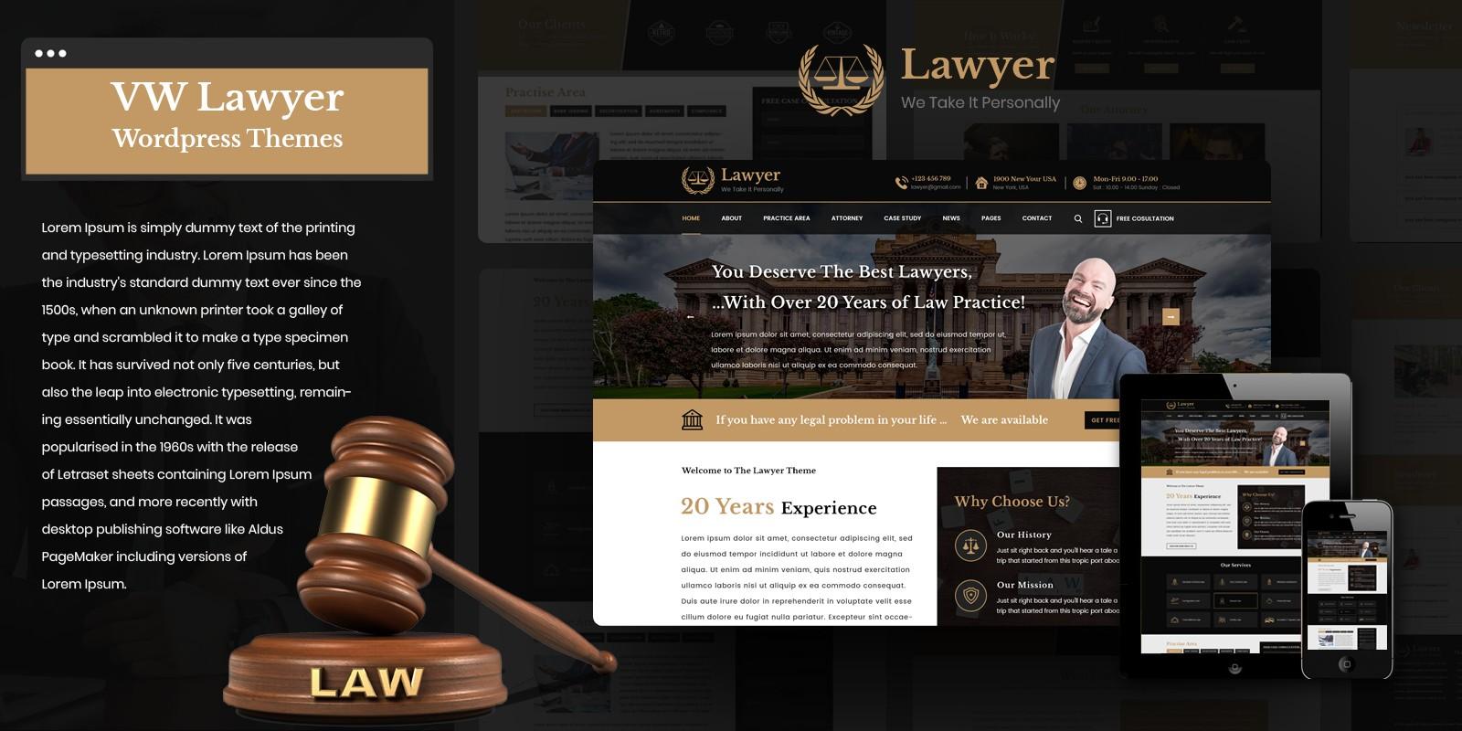 VW Lawyer Pro WordPress Theme