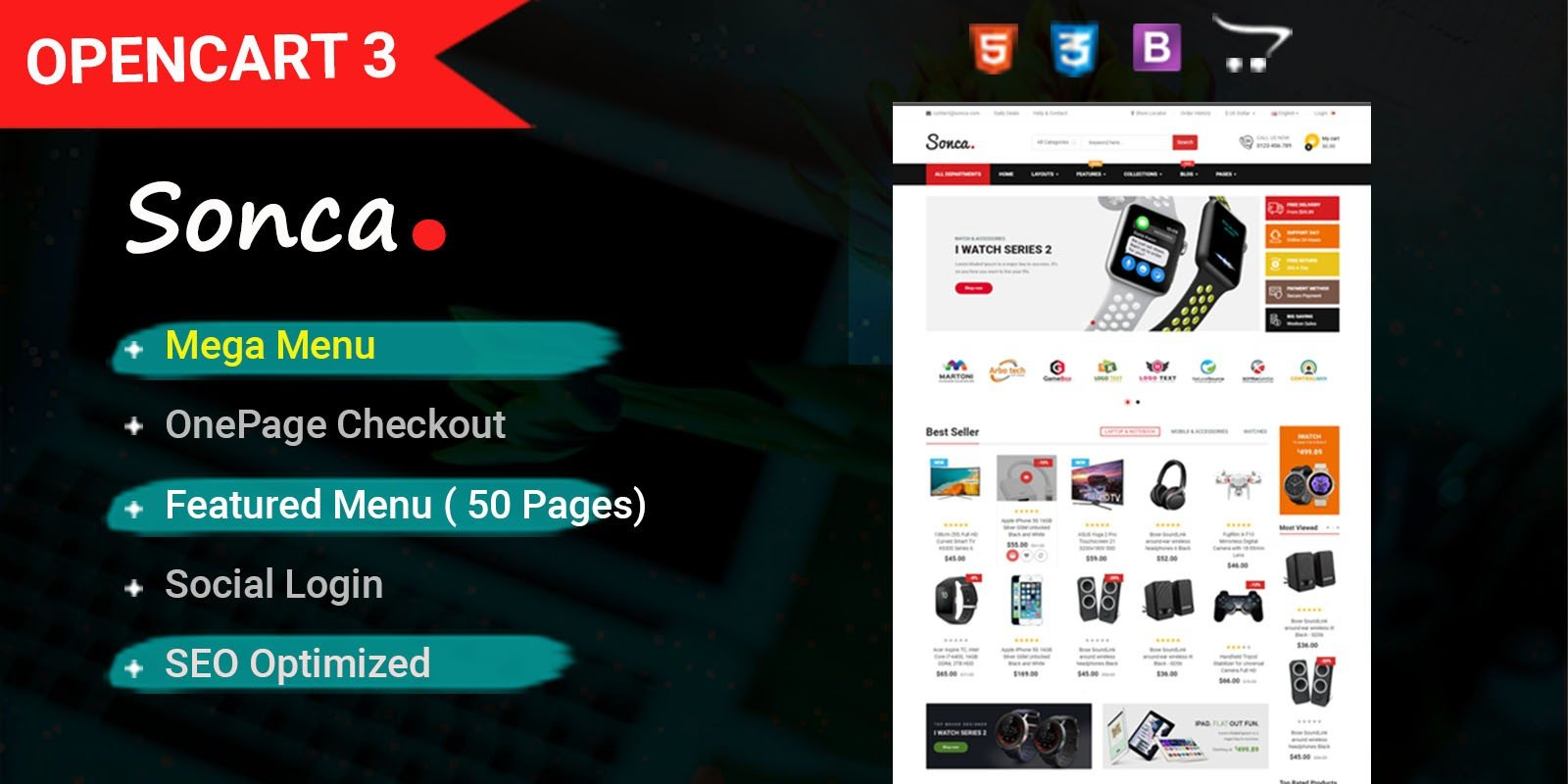 So Sonca - Responsive OpenCart 3 Theme
