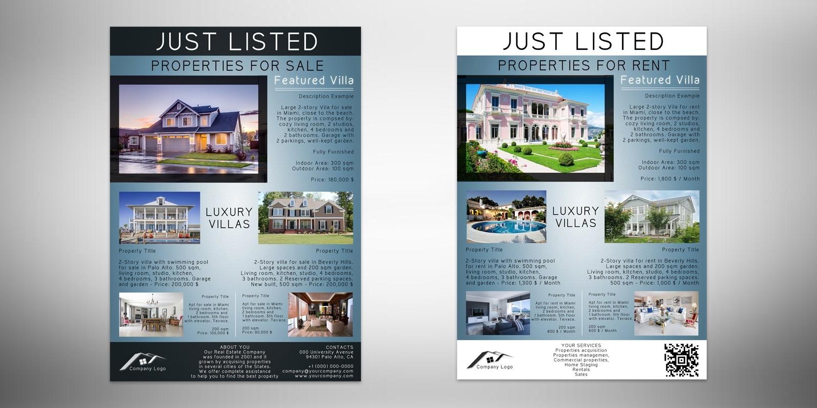 Elegance Real Estate Flyer Brochure Template