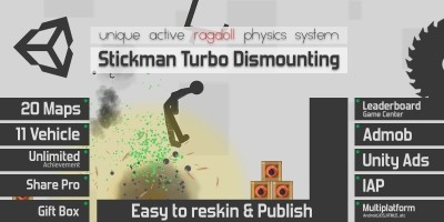 Stickman Turbo Dismounting - Unity Source Code