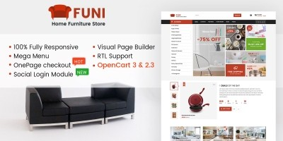 Funi - Multipurpose OpenCart Theme