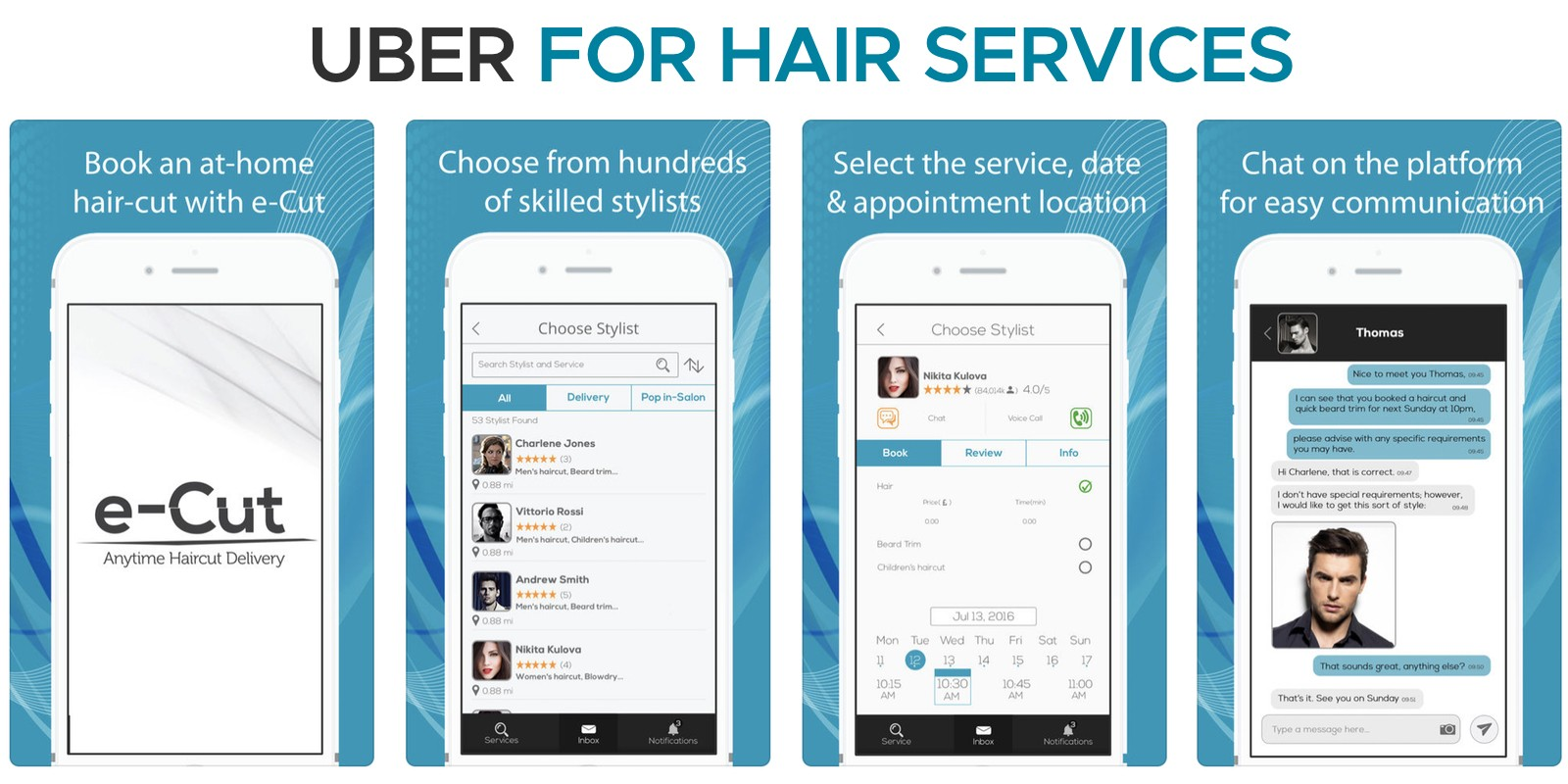 Uber Style App For Hairdressers - Android And iOS