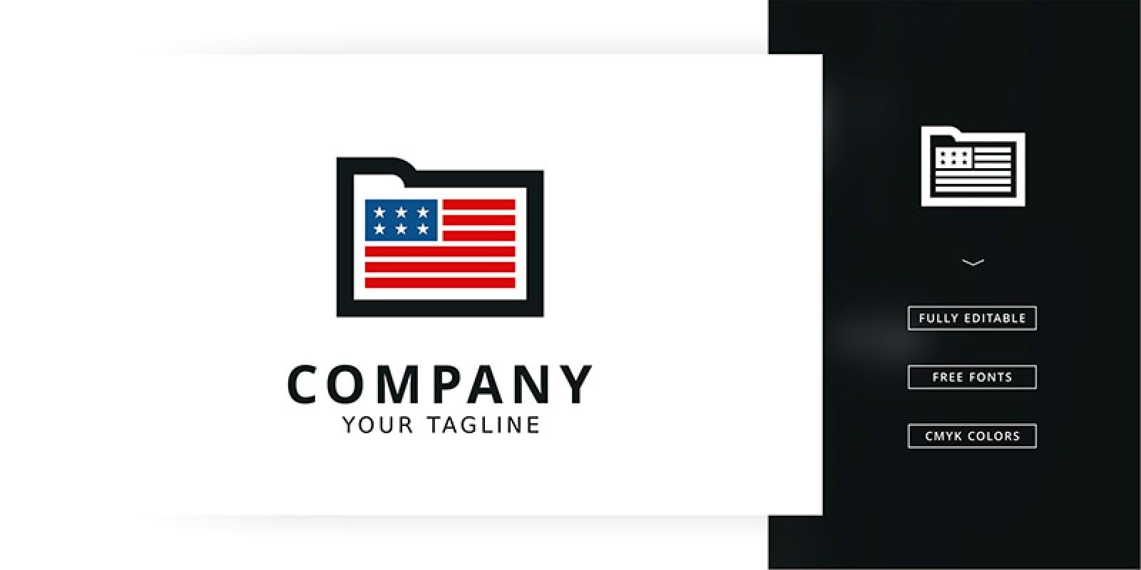 American File Logo Template