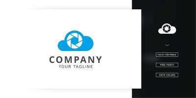 Cloud Camera Logo Template