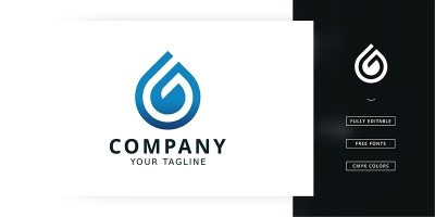 G Water Logo Template