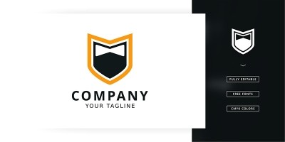 Shield Necktie Logo Template