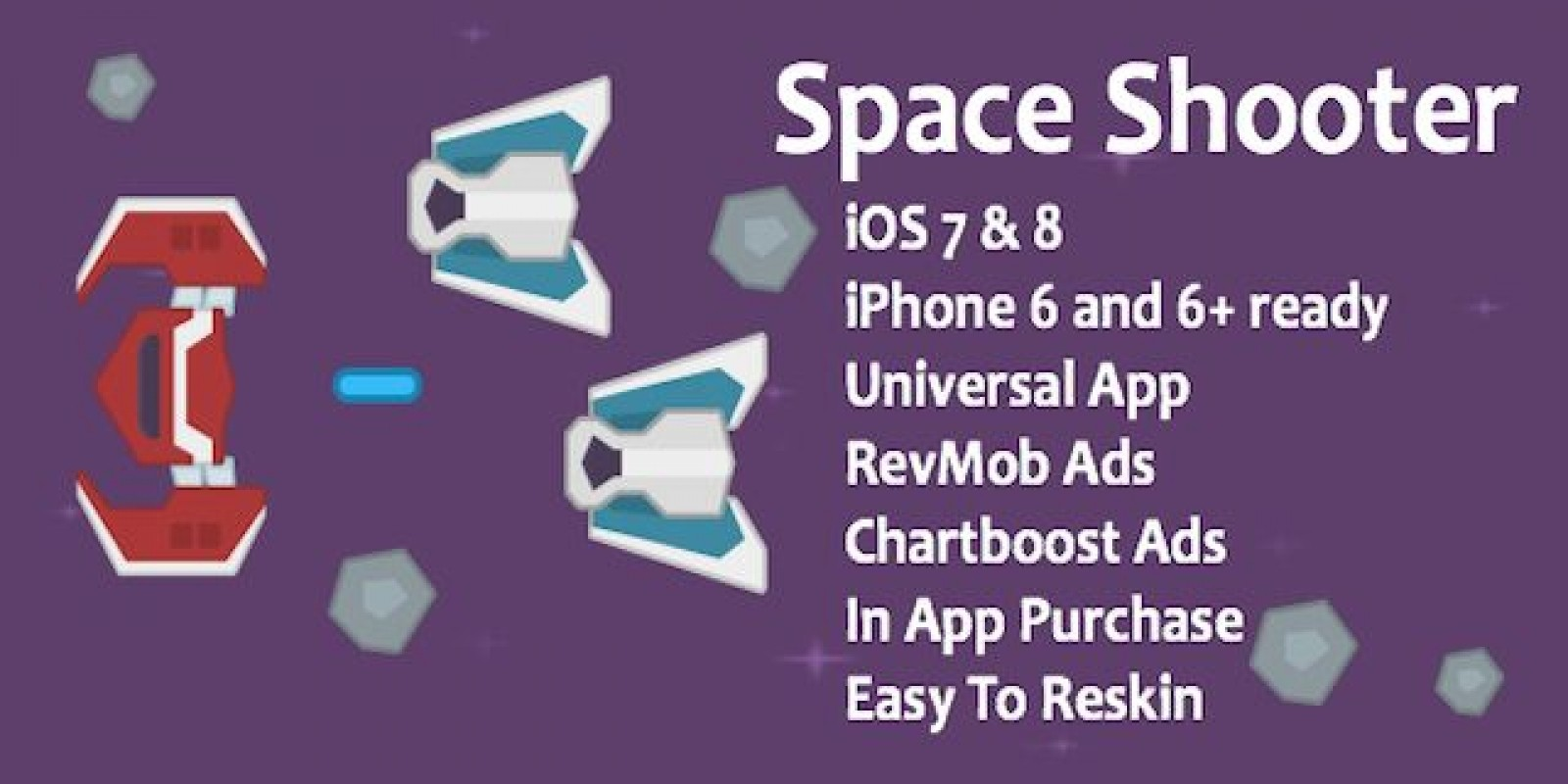 Space Shooter Game - iOS Source Code