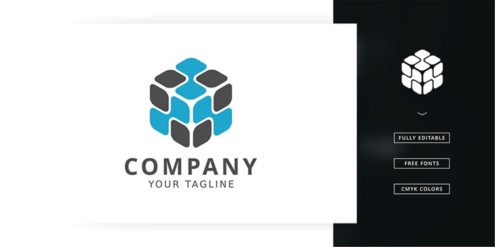 Unique Cube Logo Template
