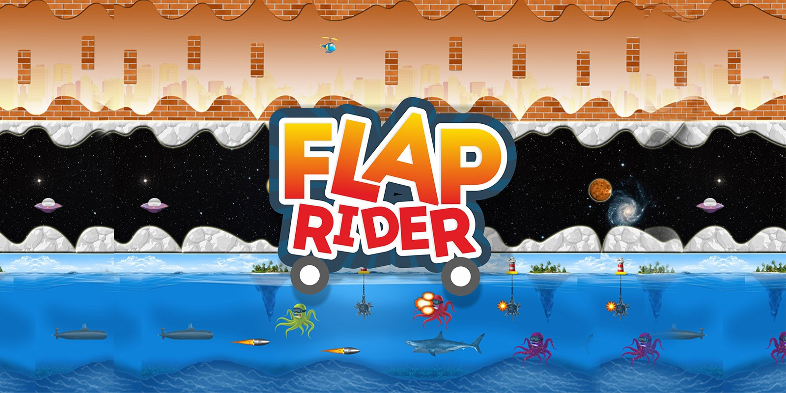 Flap Rider Buildbox Game