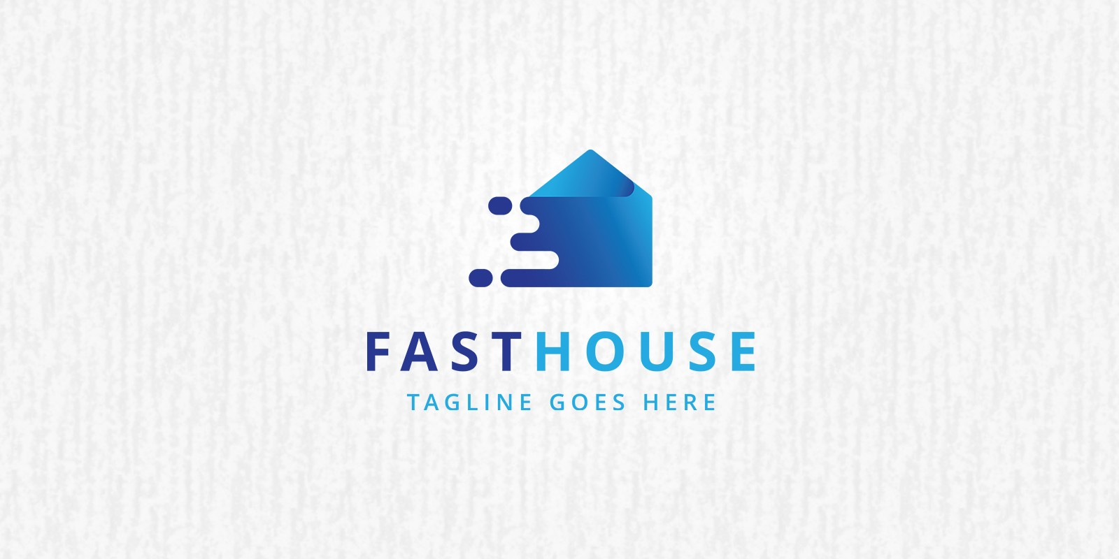 Fast House Logo Template