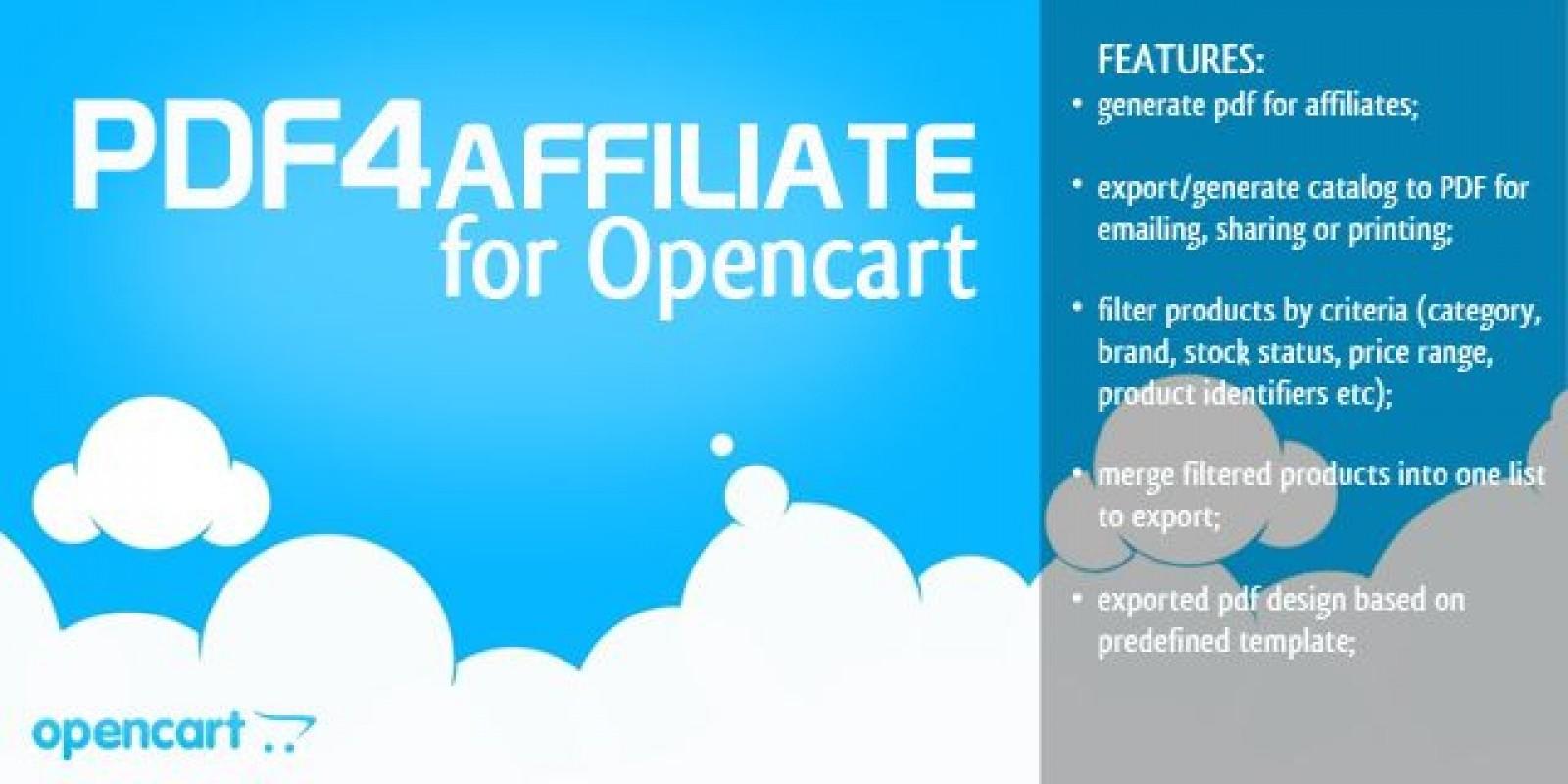 Pdf4Affiliate - Opencart Extension