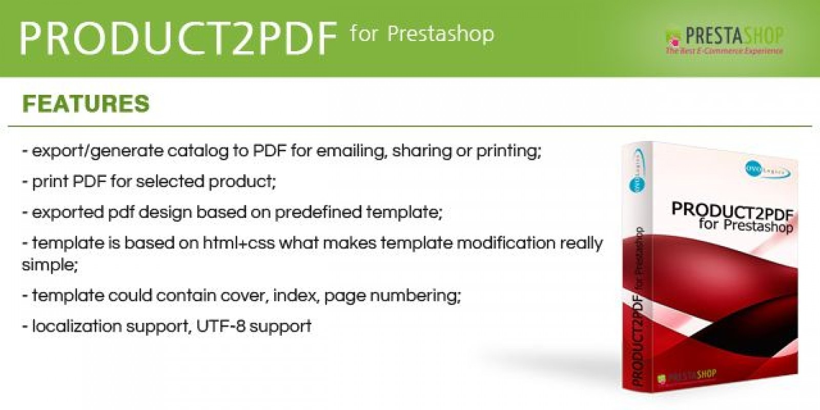 Product2PDF - Prestashop Module