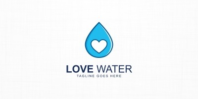 Love Water Logo Template