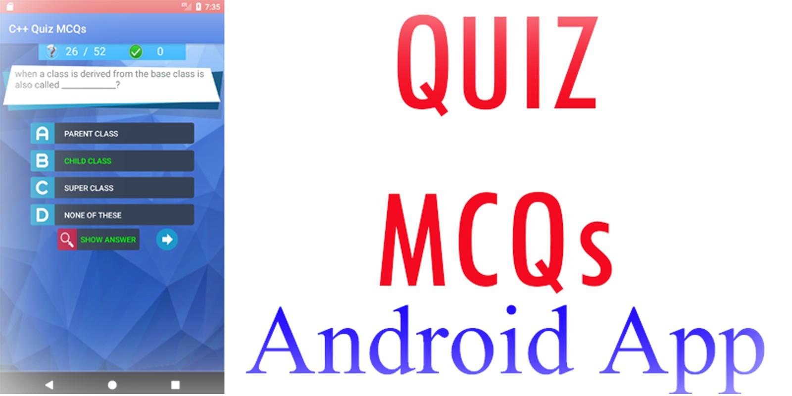 MCQs Quiz Android App Template
