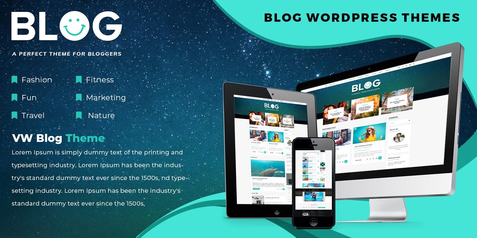 VW Blog Pro - WordPress Theme