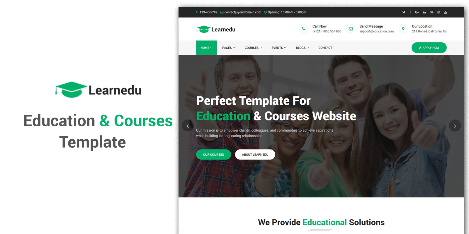 Learnedu - Education Courses HTML5 Template