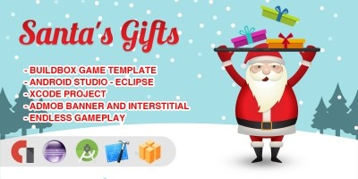 Santas Gifts - Buildbox Game Template