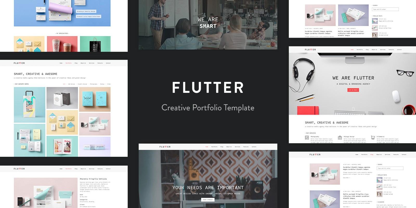 Flutter Creative Portfolio Template Codester