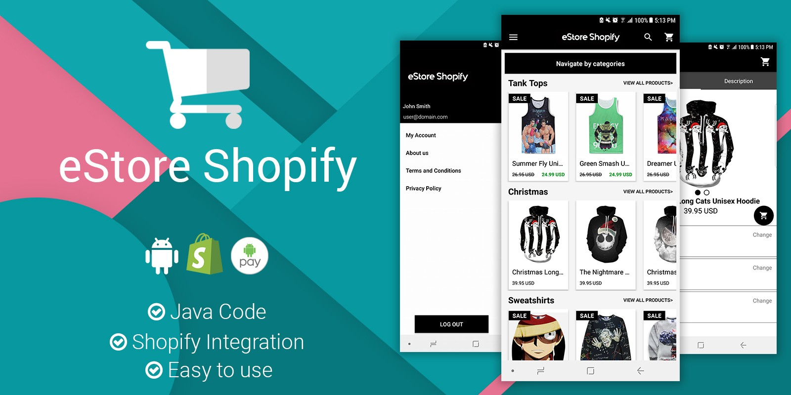 eStore Shopify - Android App Source Code