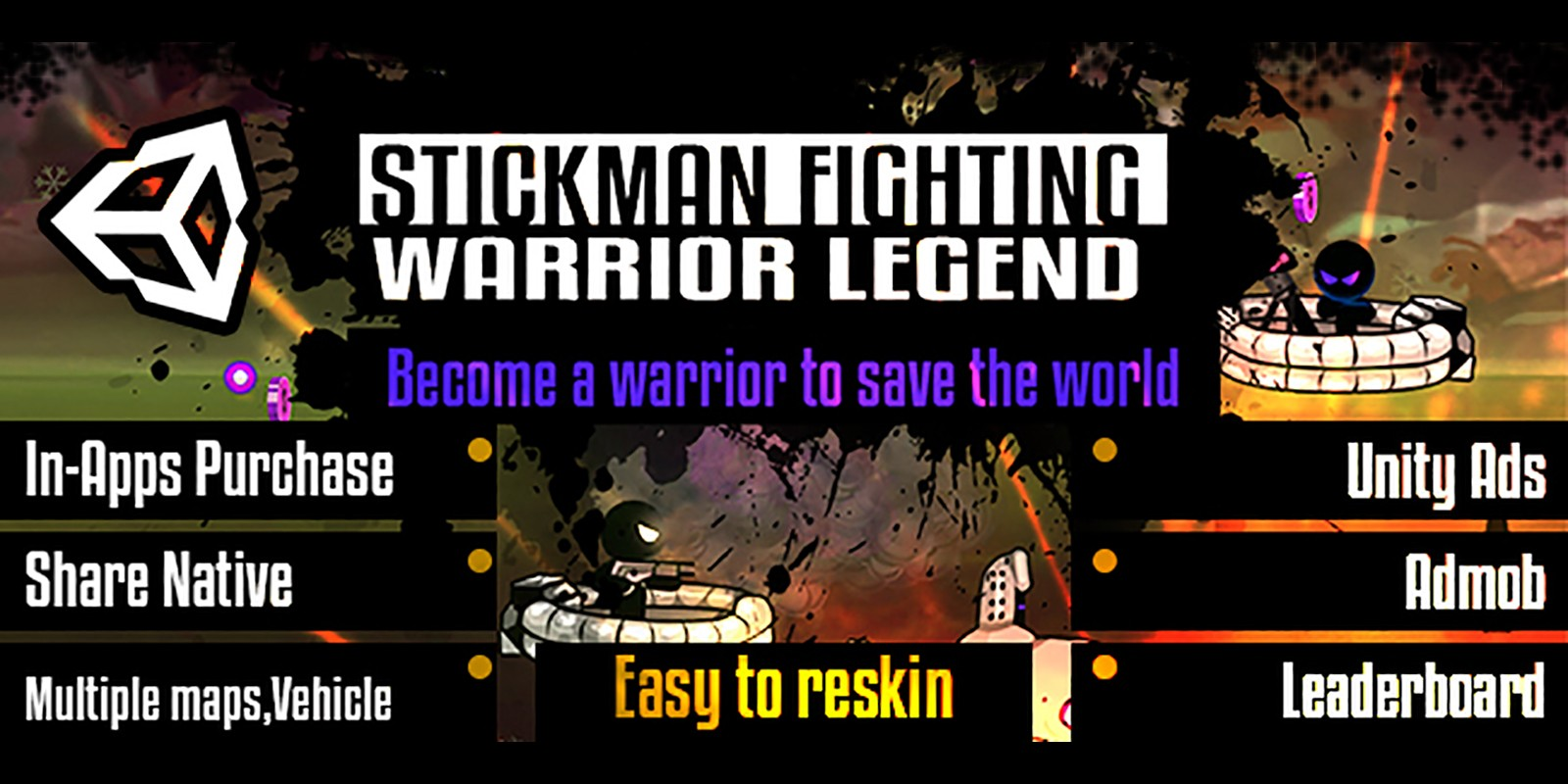Stickman Shooting - Full Project Unity