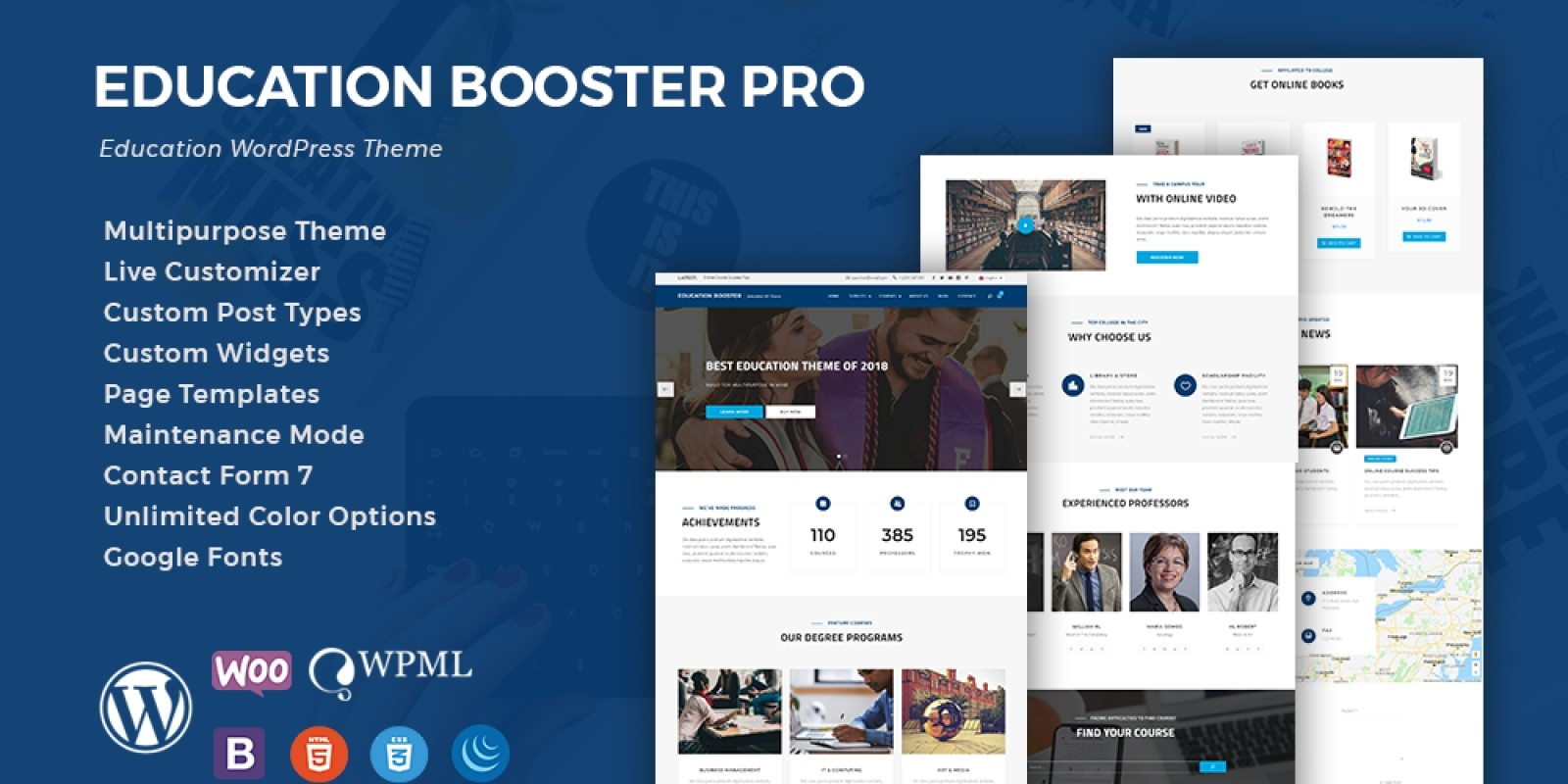 Education Booster Pro - an education theme