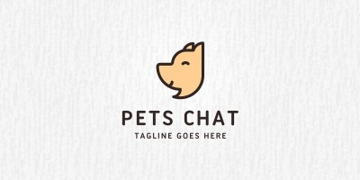 Pets Chat Logo Template