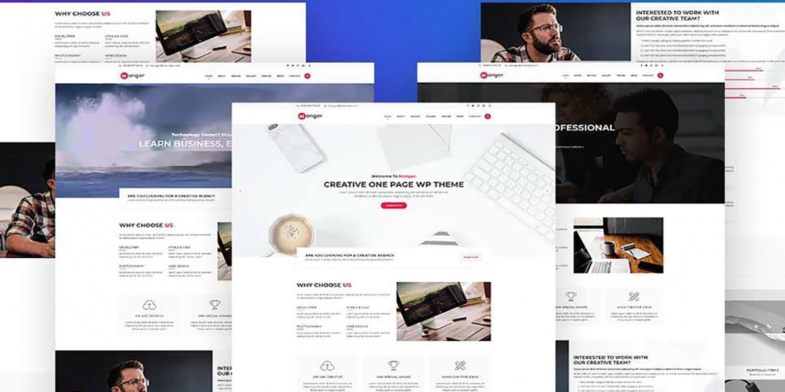 Monger - One Page Corporate WordPress Theme