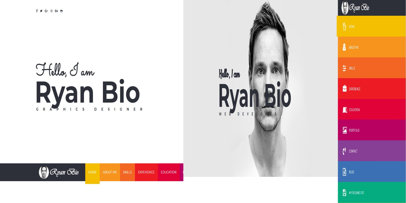 Bio  Portfolio And Resume Template  Html Resume Website Templates