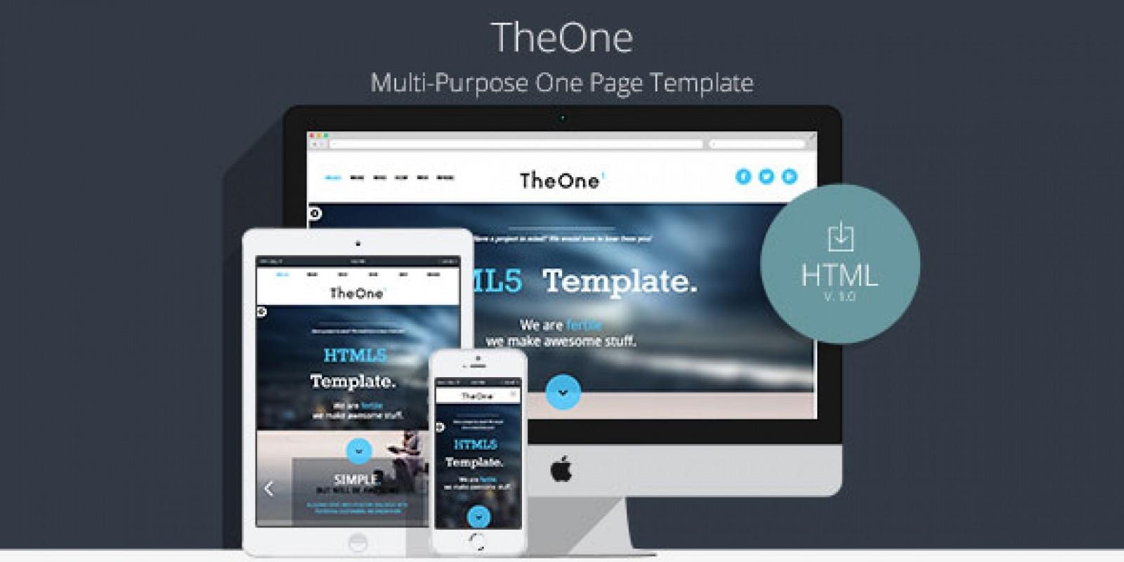 TheOne - Multipurpose Business HTML Template