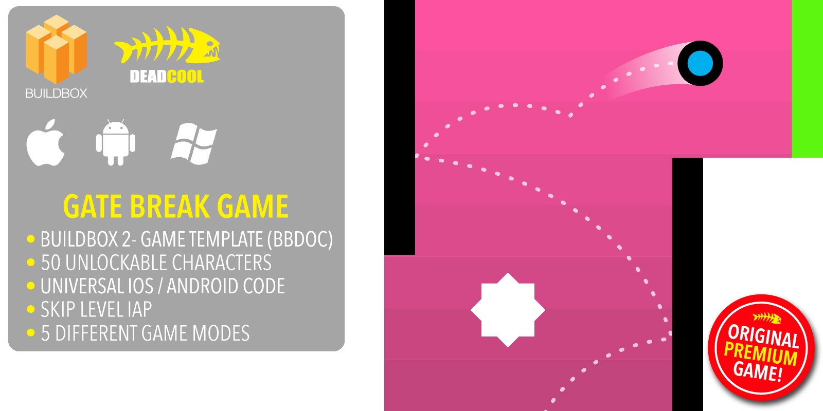 Gate Break - BuildBox Game Template