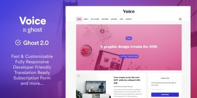 Voice - News And Magazine Ghost Theme