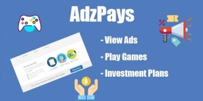 AdzPays - Investment PHP Script