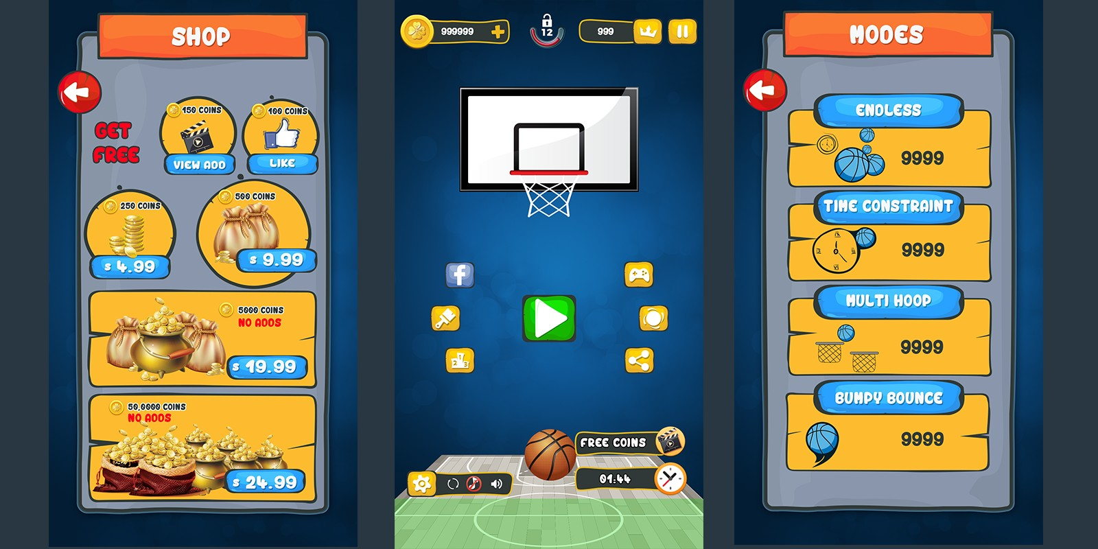 Basket Ball Game Skin - Pack 2