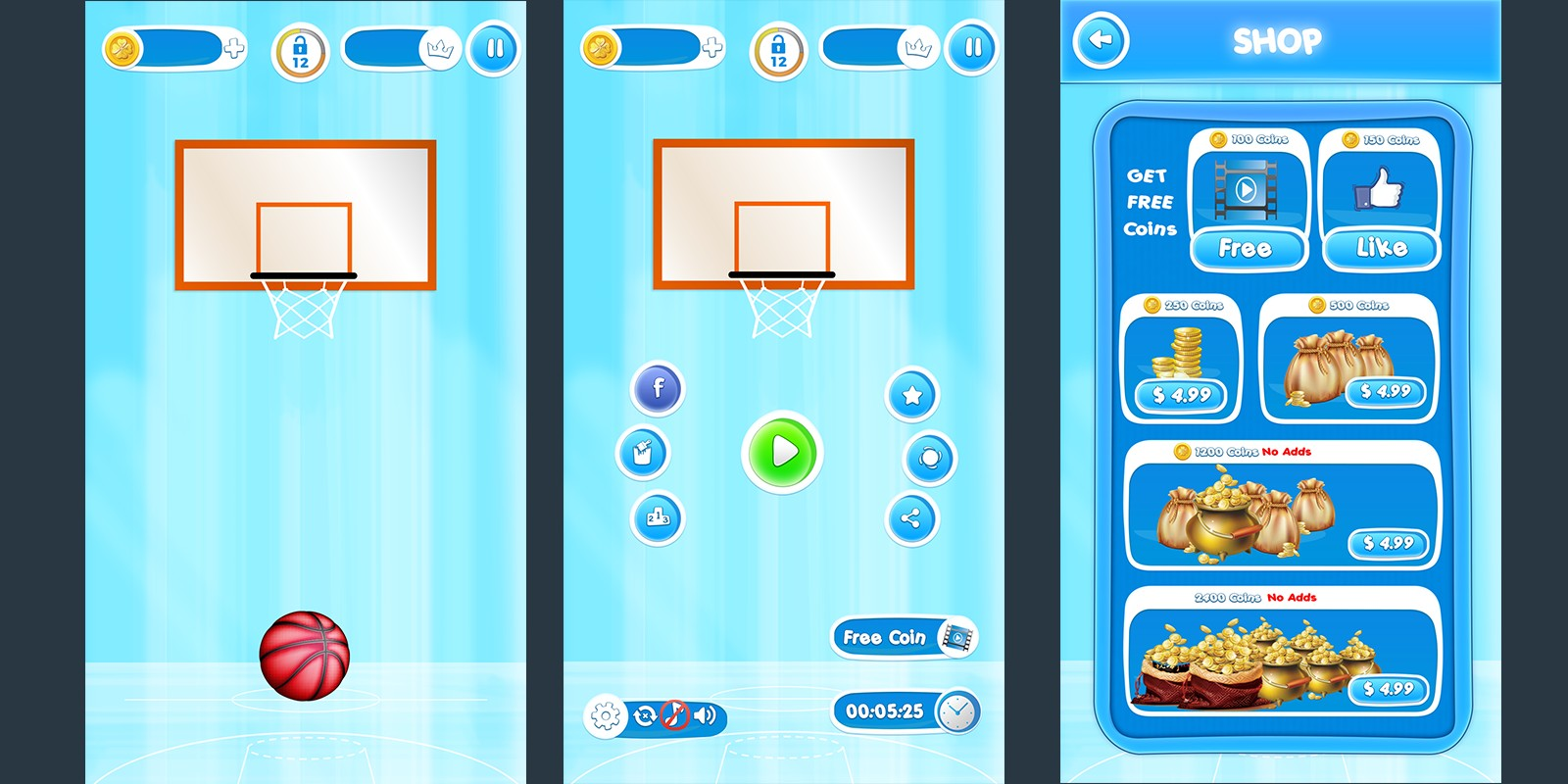 Basket Ball Game Skin Pack 4