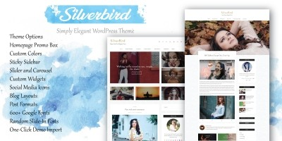 SilverBird - Elegant WordPress Blogging Theme