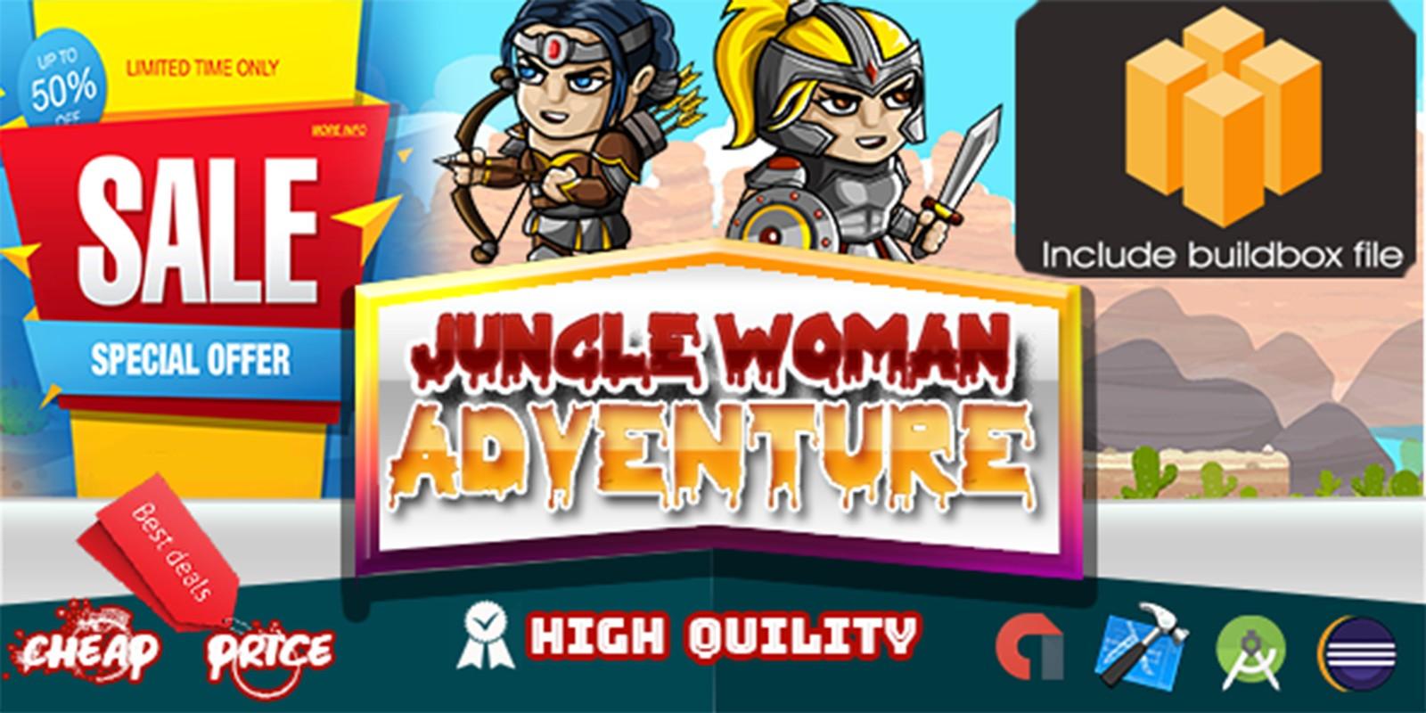 Jungle Woman Adventure - Template buildbox