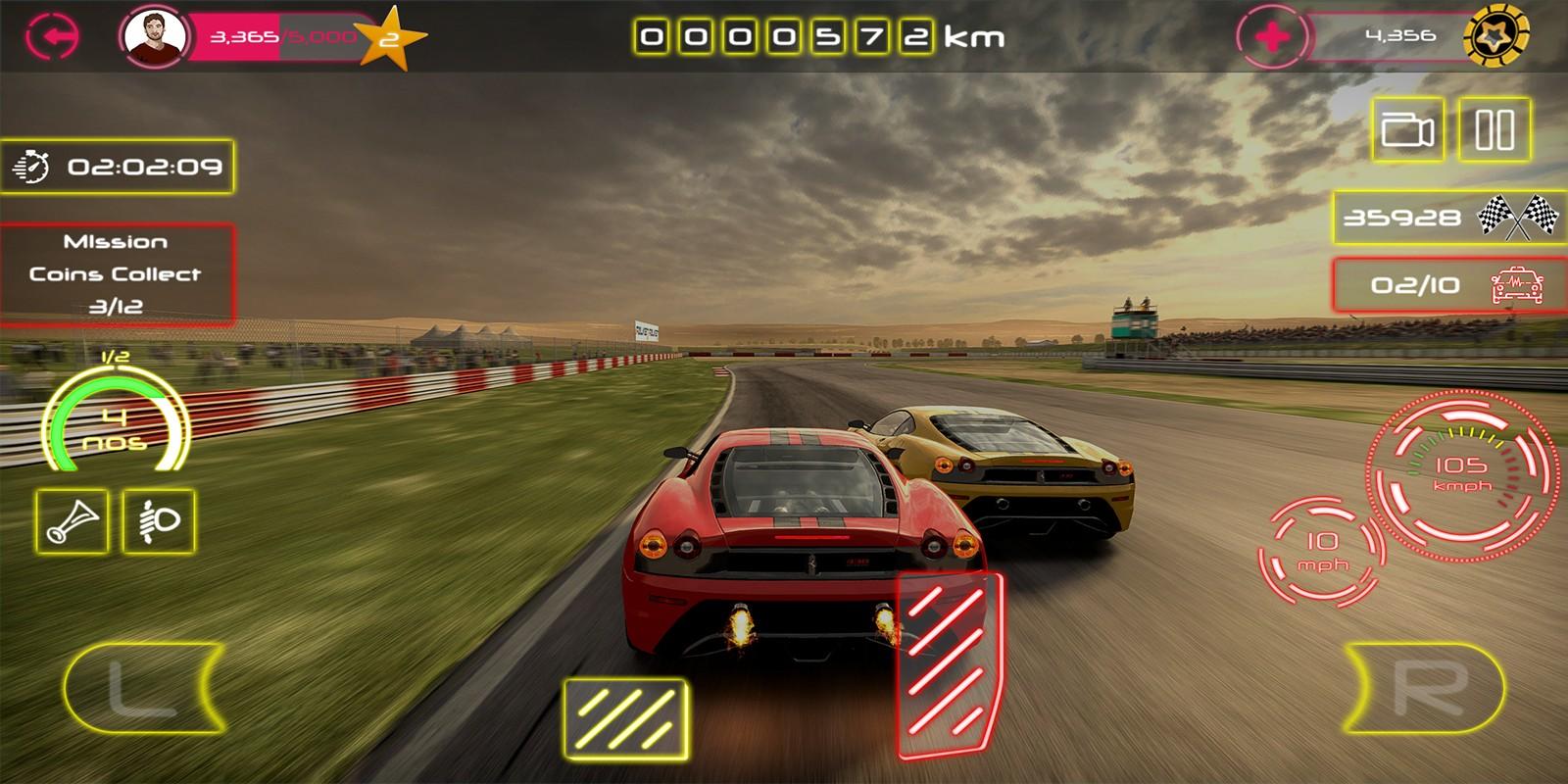 Racing Car Game UI Template Pack 2