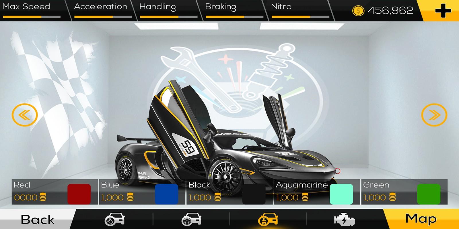 Racing Car Game UI Template Pack 3