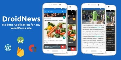 DroidNews - Modern Application for Wordpress Site