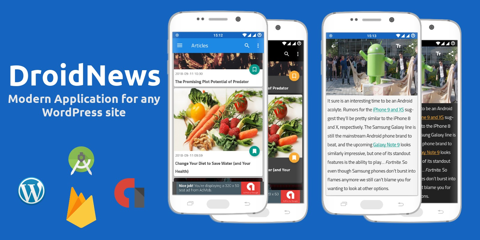 DroidNews - Android News Application for Wordpress