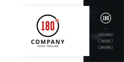 180 Degrees Logo Template