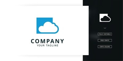 Box Cloud Logo Template