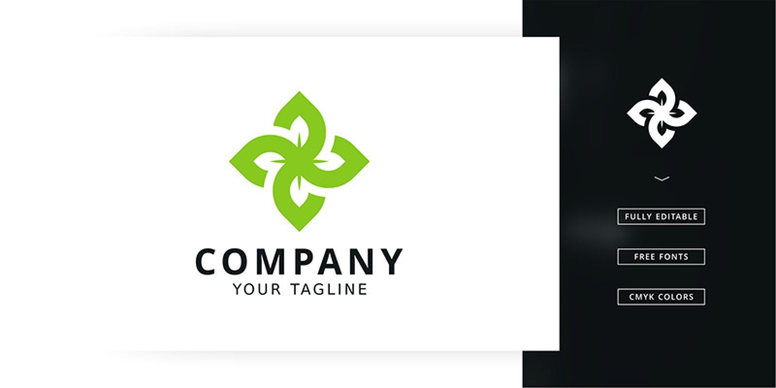Four Leaf Logo Template
